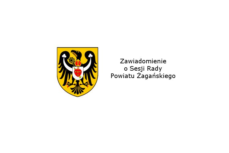 Ilustracja do informacji: Zawiadomienie o XXII sesji Rady Powiatu Żagańskiego.