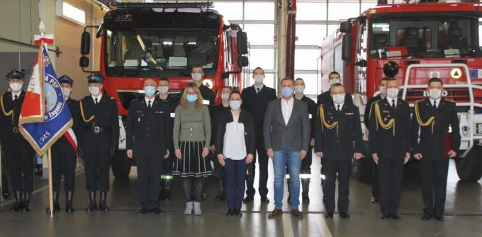 Ilustracja do informacji: Ślubowanie nowych funkcjonariuszy Straży Pożarnej