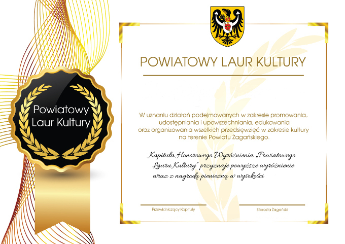 Ilustracja do informacji: Powiatowy Laur Kultury 2021